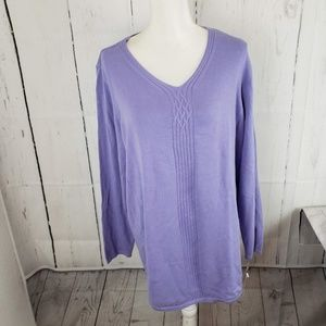 New Karen Scott Cable Detail Tunic Sweater